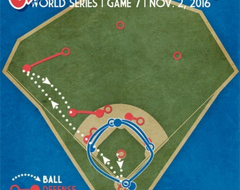 "Chicago Cubs World Series Win ""Cursed No More"" baseball print"