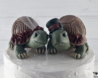 Land Love Turtles Wedding Cake Topper Custom