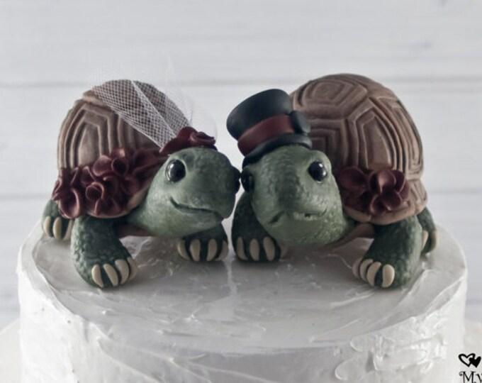 Land Love Turtles Wedding Cake Topper Custom