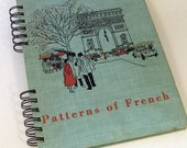 1957 VINTAGE FRENCH TEXTBOOK Handmade Journal Vintage Upcycled Book France Travel Journal
