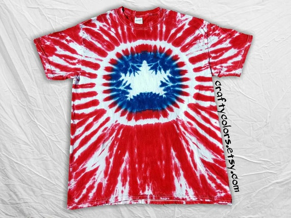 Tie Dye inspired by Captain America Super Hero T Shirt Adult Size