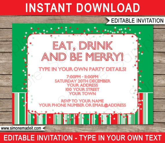 Christmas Invitation Template - Christmas Party Invitation