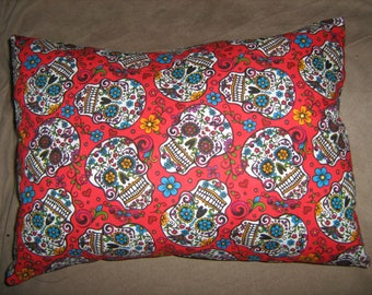 SUGAR SKULLS Day of the Dead Travel/Accent/Lumbar pillow cover