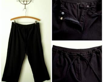 Linen cropped pants   Etsy