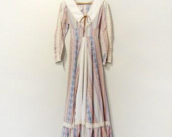 Vintage 70's Gunne Sax / Jessica Boho Festival Dress Medium Southwest