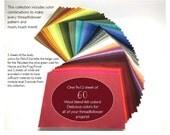 Wool felt Rainbow bundle, felt sheets, felt sheet collection
