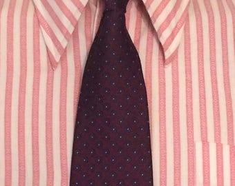 designer silk ties zx0g  Vintage MENS designer Givenchy polka dot silk tie, circa 80s-90s, made in  USA