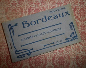 1920s Art Nouveau Bordeaux France Souvenir Postcard Booklet