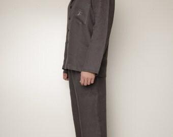Linen Pajama Set For Men/ Classical Men's Pajama/ Men's Loungwear