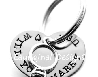 Proposal pet tag - Engagement pet tag - Silver pet tag for an engagement - Will you marry us - Marriage Proposal - See ALL photos!!