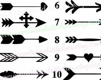 Arrow Stencil - Decorative Stencils - Stencils - Art Stencils - Reusable Stencil - Craft Stencils - Great for Walls, Clothes, Wood, Fabric