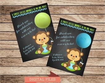 Monkey Baby Shower Gift Tags for EOS lip balm gifts | Thank You Tags | Shower Favors | Shower Thank you Favor Tags Monkey Shower Favor Tags