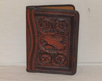 Leather handcrafted Organizer for 5 x 7 note pad