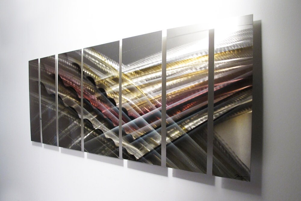 Large Metal Wall Art Panels Sculpture Contemporary Metal Decor