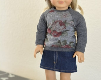 Doll Clothes: Picadilly Sweater for 18 Inch Dolls