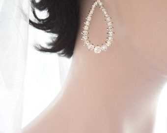 SALE, Cubic Zirconia earrings, AAA stones, Brides earrings, High quality, Sparkling teardrops, Wedding earrings, Bridesmaids earrings, Gift