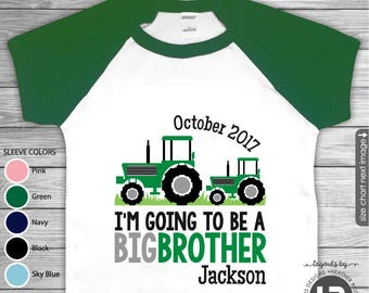 Big Brother Shirt Big Brother Announcement Shirt Big Brother Outfit Tractor Big Brother to Be Shirts Sibling Pregnancy Baby Announcement