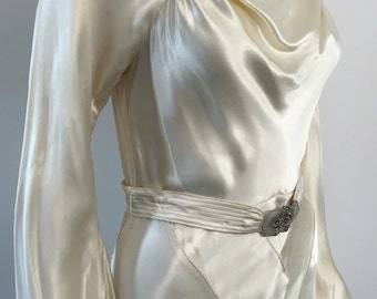 Beautiful Liquid Satin 1930's Wedding Dress