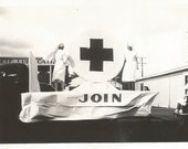 "Vintage Photo ""Armistice Day 1938"" American Red Cross Parade Float Nurses RN Military WWI Found Vernacular Photo"