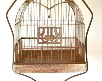 Rusty Wire Hendryx Metal Birdcage Shabby Domed Bird Cage