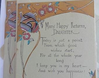 Art Deco Birthday Cards - Daughter