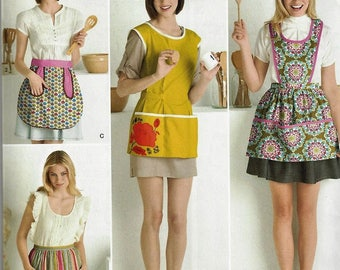 New Simplicity Pattern #2272 Retro 60's Style Aprons Smock Vintage Designs Pockets Uncut Factory Folded