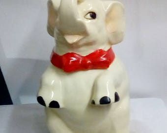Vintage Elephant Cookie Jar