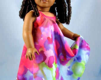 "Doll Clothes 18 Inch - Fits American Girl Dolls - Desert Sunrise Maxi Dress - Doll Clothing - 18"" Doll Clothes - Tie Dye Tropical"