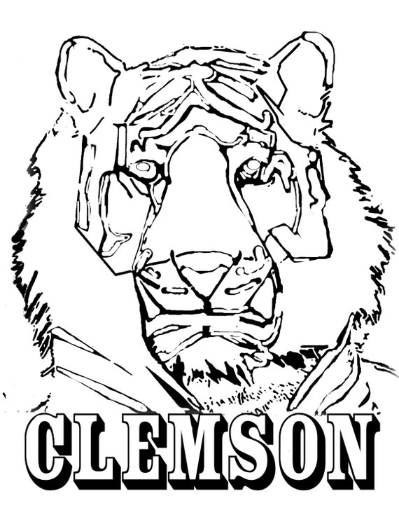 clemson football coloring pages | Five Printable CU Coloring Downloads