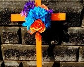 Cemetery Wooden Cross, Roadside Memorial Flowers, Grave Flowers, Cemetery And Funeral, Grave Marker, RIP