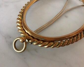 Vintage oval Gold frame 1950