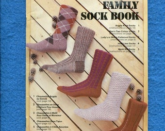 1980's Beehive Family Socks Book 421