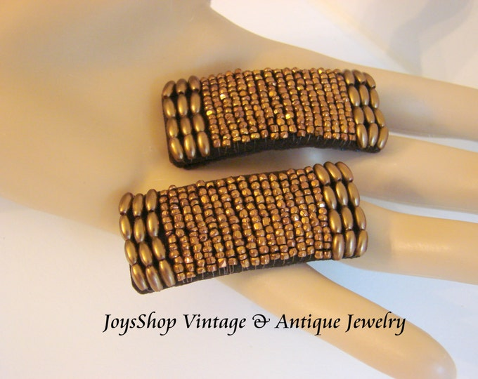 Art Deco Copper Cut Steel Shoe Buckles Vintage Accessories Jewelry Jewellery