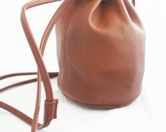 Coach - Littleton Bucket Drawstring Brown British Tan Leather Coach #4144