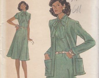 Easy 70s Dress & Jacket Pattern Vogue 9118 Size 18