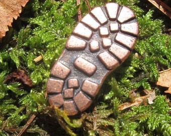 Copper Hiking Boot Lapel Pin- CC522C- Hiking, Nature, Woods, Adventure, Wanderlust Pins