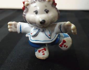 Portia Porcupine ~ Vintage 1984 Get Along Gang Miniature PVC Tomy Anthropomorphic Toy