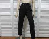 Vintage Levi Black Jeans High Waist Jeans 550s Size 32/30 Unisex Relaxed Fit