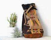 Pendleton One Shoulder Backpack - Vintage Wool Rucksack Messenger Bag Purse