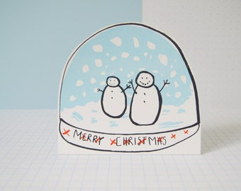 Snow Globe - Screen Printed Card