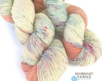 Superwash Sock Yarn,  Speckled Sock Yarn, Fingering Yarn, High Twist Sock, Crochet, Knitting