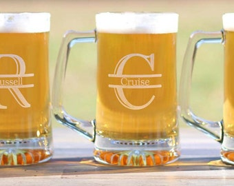 Custom Personalized Groomsmen Gifts Beer Mugs Engraved 25oz Beer Mug Father of the Groom/Best Man/Groomsman Gifts - ANY QUANTITY
