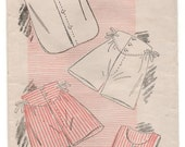 """1930's New York Men's Undershirt and Shorts Pattern - Chest 44"""" - No. 781"""