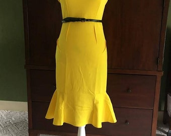 Yellow Wiggle Vintage Dress