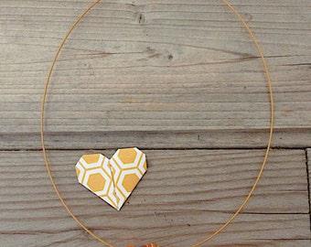 Minimalist orange handblown lampwork glass necklace