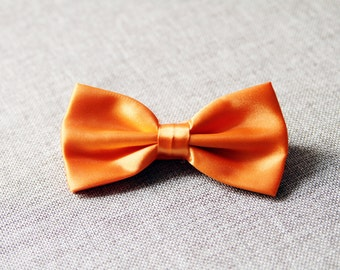 Men's Bow Tie Pre-tied Bow Tie For Men Boy - Groom Groomsmen Handmade Mens Gift Wedding Gifts Orange Bow Tie Bowtie