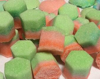 FAST SHIP Hexagon Rainbow Colored Sugar Cubes