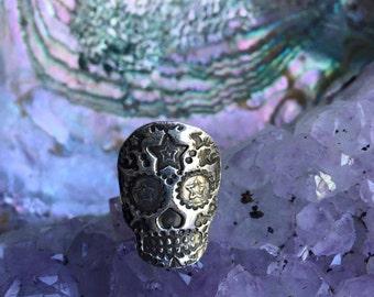 Star Sugar Skull Ring
