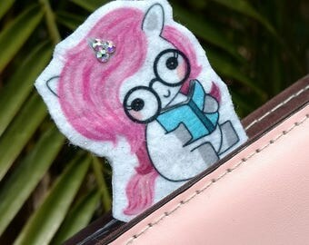Unicorn Planner Clip with Swarovski Crystals