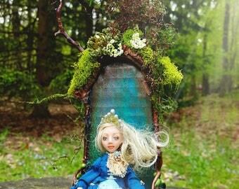 Woodland fairy teal fae chair